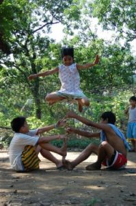 Luksong-Tinik or jump over the thorns  All Philippine games site