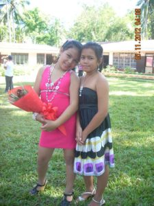 Babeselle and Mimi at the end of school recognition day.