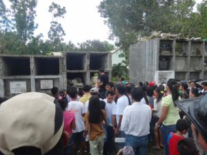 Inday's Grandfather's funeral