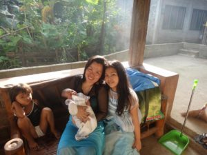 Inday with three of the children.